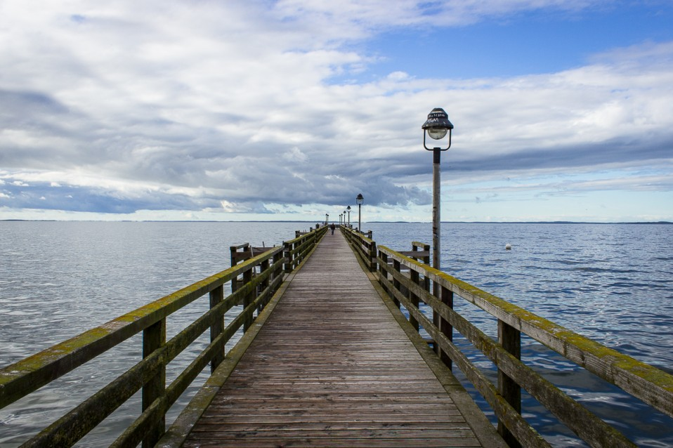Pedestrian Seaside Pier on the Baltic Sea