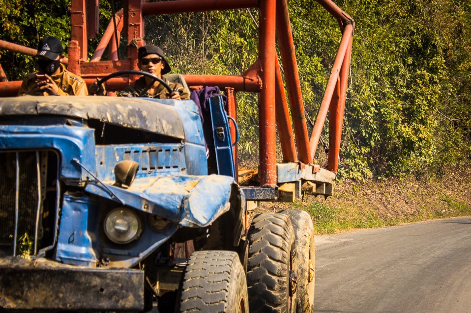 Truck Driver in Laos