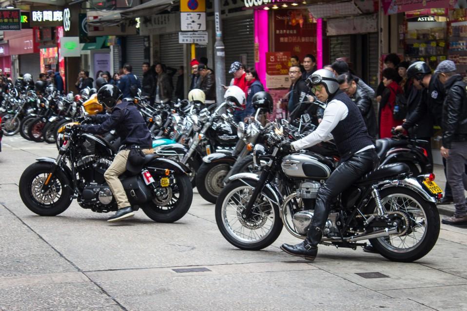 Motorcyclist in Hong Kong